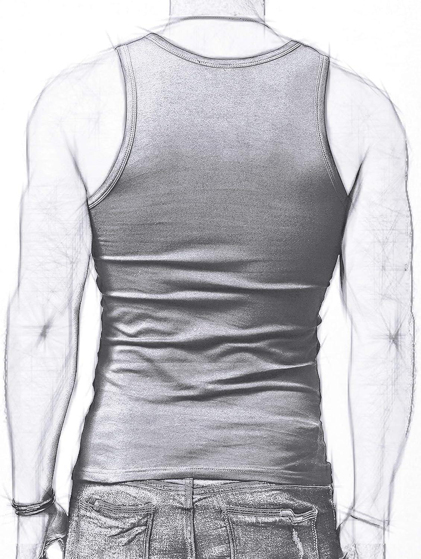 XDIAN Hombre Slim Fit Tank Top Casual Algod/ón Camisetas Sin Mangas de Tirantes Deportes Gimnasio Delgado
