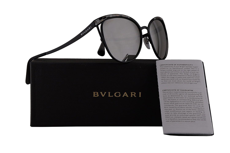 Bvlgari BV6083 Gafas de Sol w/Gris Claro Espejo de Plata ...