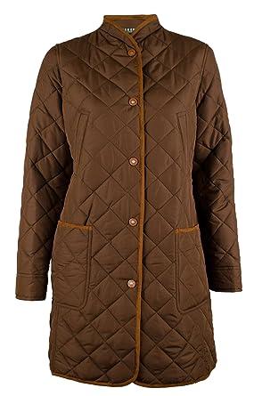 Ralph Lauren Women's Faux-Suede-Trim Quilted Coat-DH-L at Amazon ... : ralph lauren jacket quilted - Adamdwight.com