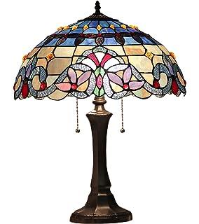 chloe lighting grenville victorian 2 light table lamp 16 - Tiffany Table Lamps