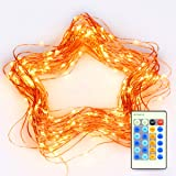 LED String Lights 66 ft with 200 LEDs, 1byone Twinkle Lights Copper Wire Lights With Wireless IR Remote Control Decoration String Light for Christmas and Thanksgiving Day