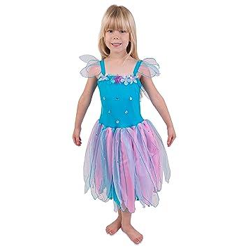 Beförderung super günstig im vergleich zu detaillierte Bilder Rittersporn Blumenfee Kostüm Kinder - Karneval Fee Kostüm Kinder 116 (5-6  Jahre) - Lucy Locket
