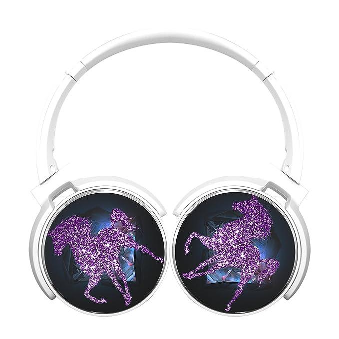 yi6 X U Unicornio inalámbrica Bluetooth auriculares de diadema estéreo plegable Auriculares color blanco