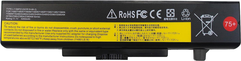 Gomarty 5200MAH L11S6Y01 L11L6Y01 Laptop Battery for Lenovo IdeaPad Y480 Y580 G480 G580 Z380 Z480 Z580 Z585 Series L11M6Y01 L116Y01 L11S6F01 L11L6F01 L11P6R01