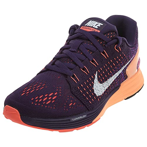 half off f4dd7 b977e Nike Wmns Lunarglide 7, Grand Purple white-sunset Glow, 5 M Us