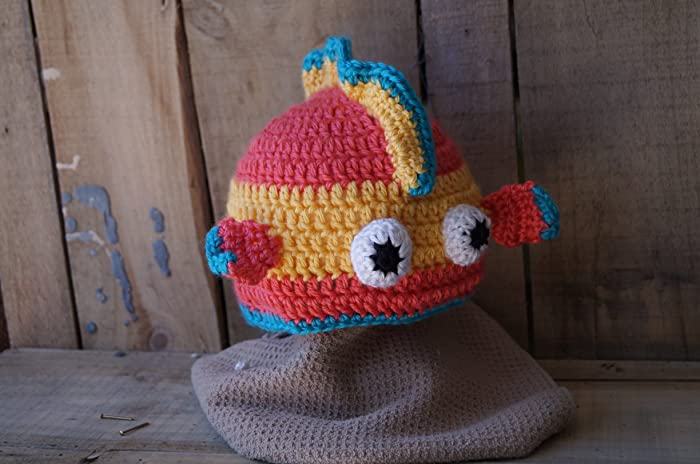 Amazon Cute Crocheted Unisex Fish Hat For Baby Or Toddler