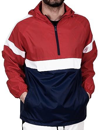 BLEECKER   MERCER Half-Zip Color Block Windbreaker at Amazon Men s Clothing  store  1522b0c92