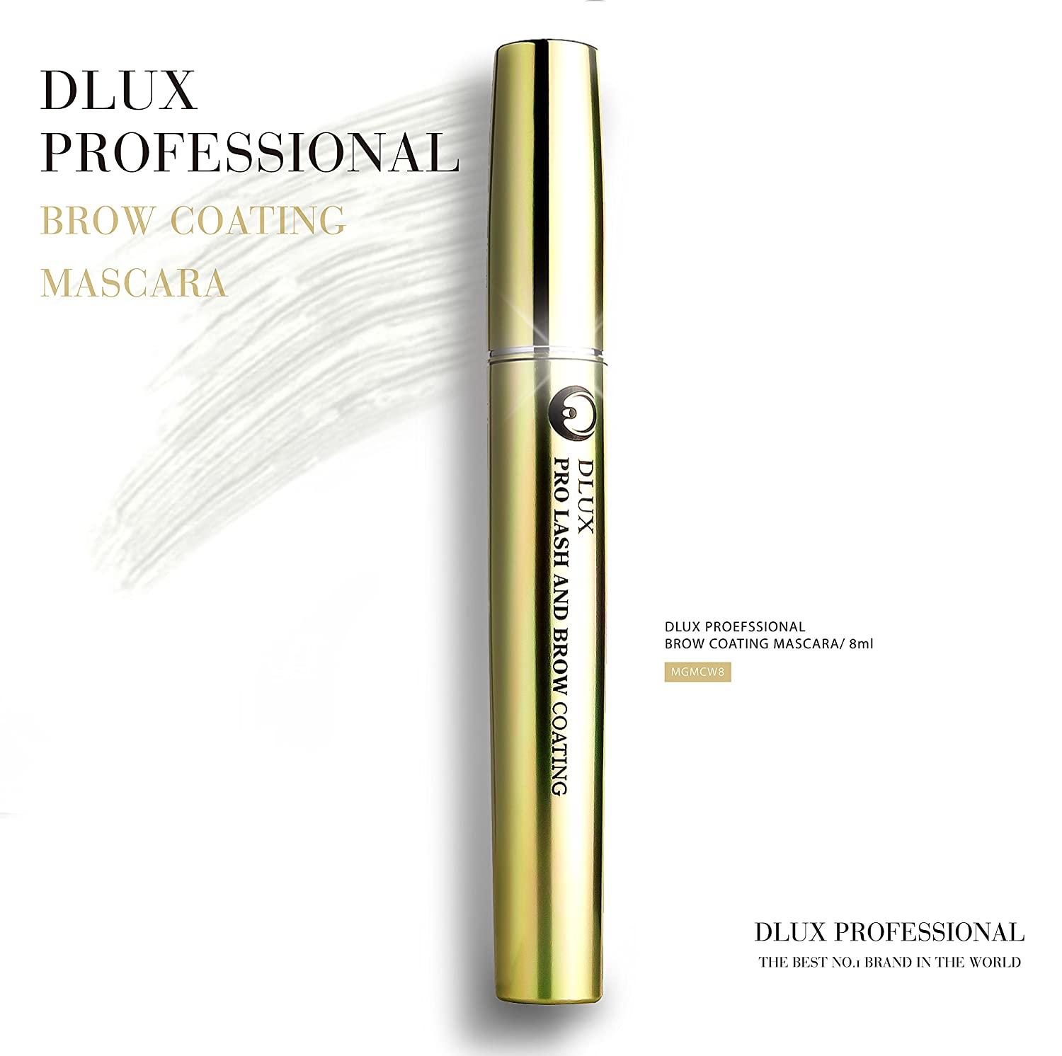 Amazon.com : DLUX PROFESSIONAL LASH & BROW COATING MASCARA(8ml) White/Eyelash Mascara/Latex Free/Eyelash coating/PROVIDES STRONGER/NATURALLY LONGER/Roots ...