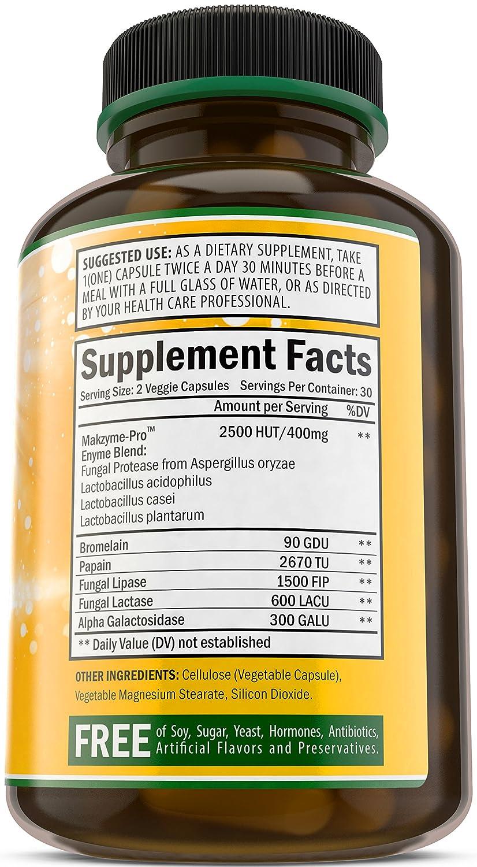 Amazon.com: Las enzimas digestivas por bradeson Naturals ...