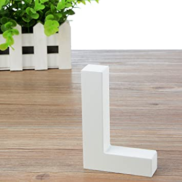 amazon com large wooden hanging wall letters l white decorative