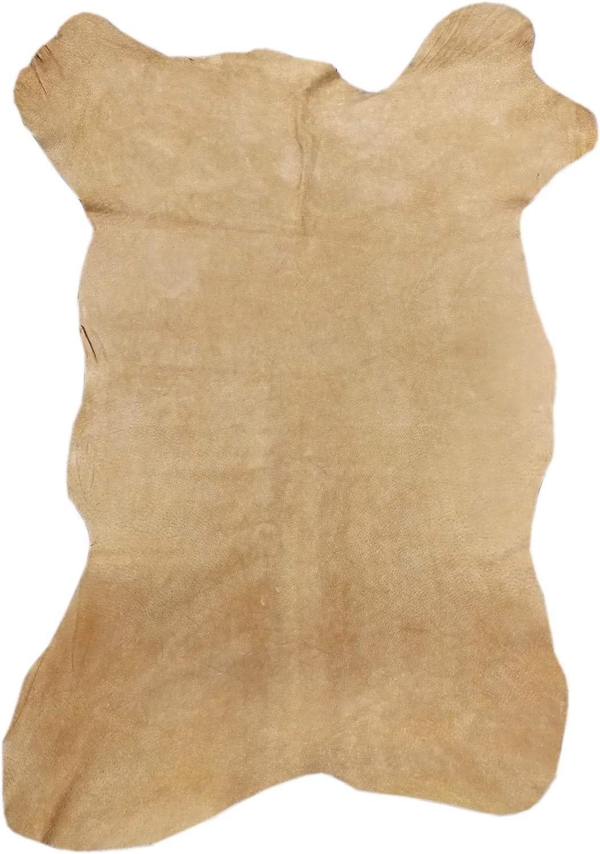 Zerimar Piel Cuero | Pieles Cuero Natural | Retales de Piel para Manualidades | Piel para Artesanos | Retal Cuero | Retales de Cuero | Color: camel | Medidas: 100x60 cm.7.6 Pies