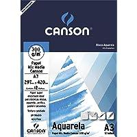 Bloco Canson Aquarela A3 300g/m² com 12 folhas