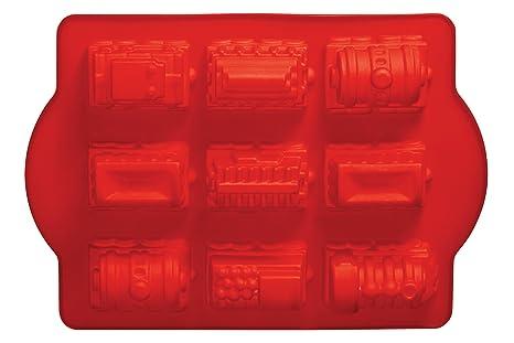 Premier Housewares - Molde para pasteles en forma de tren, color rojo