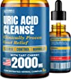 Uric Acid Cleanse with Tart Cherry 2000mg - Clinically Proven Gоut Relief - Joint Comfort & Detoxification - Liquid Uric Acid Support Formula for Highest BioAvailability - Premium Gоut Treatment