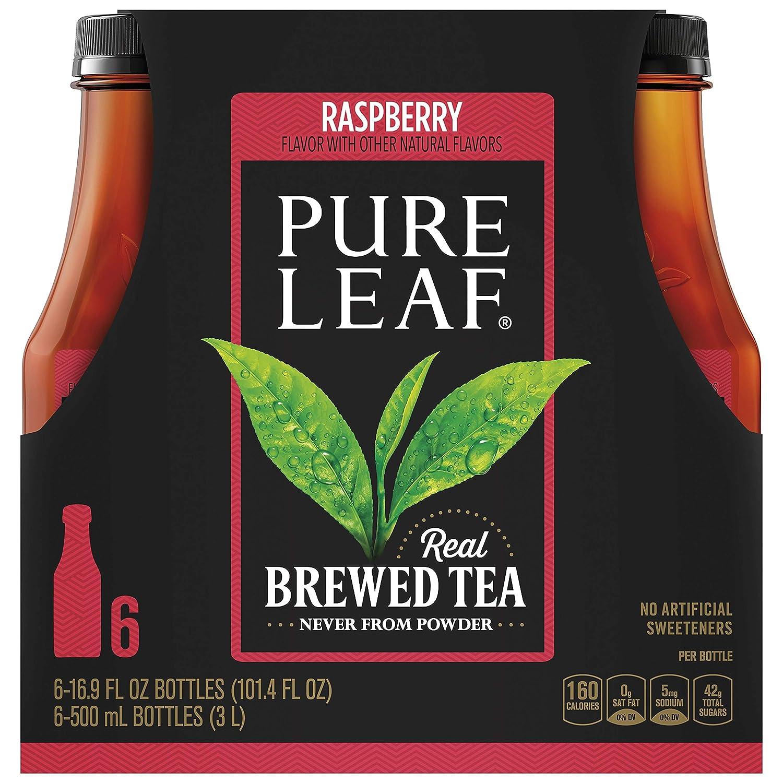 Pure Leaf Raspberry Iced Tea, 16.9 Fluid Ounce (Pack of 6)