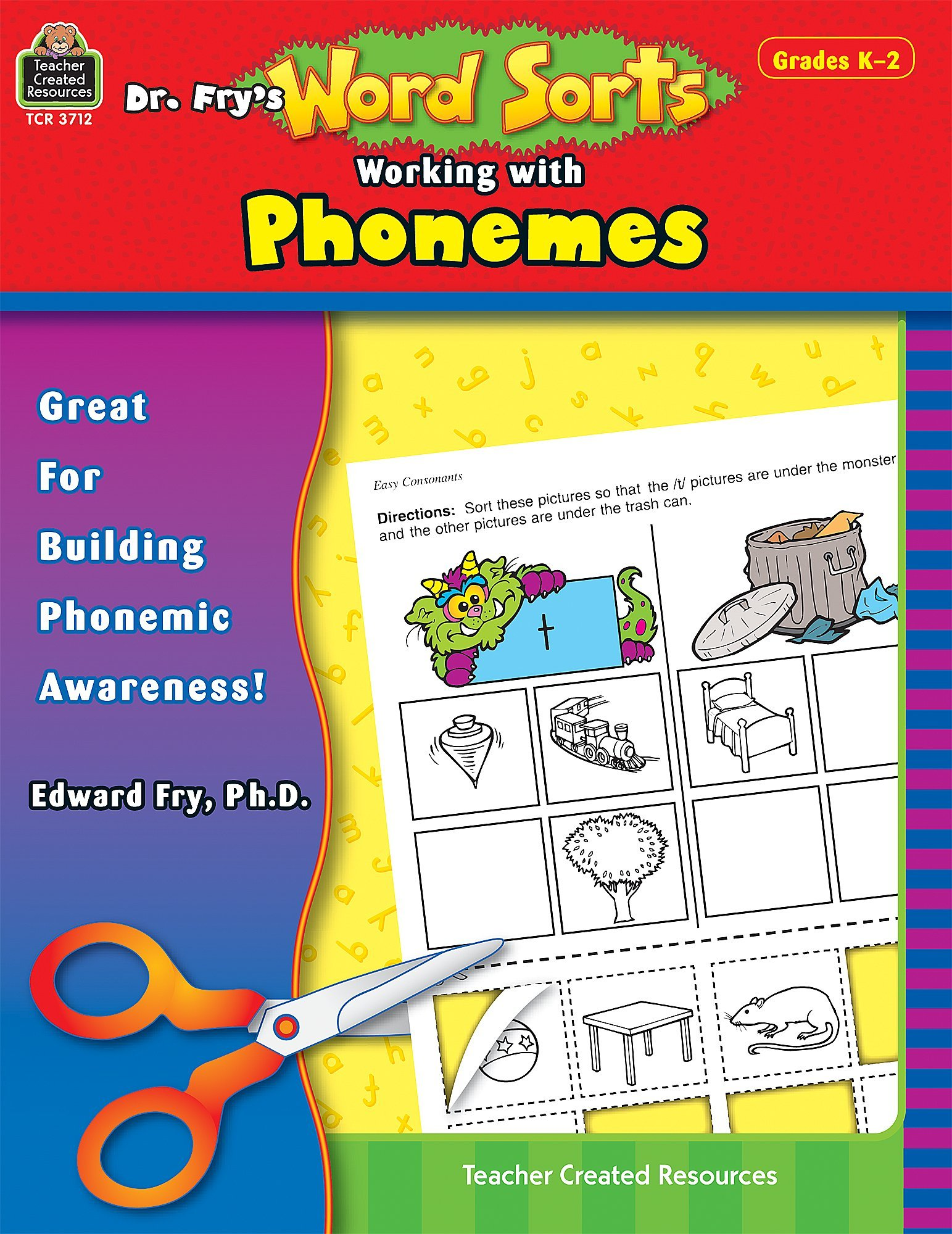 Read Online Dr. Fry's Word Sorts: Working With Phonemes, Grade 2 PDF