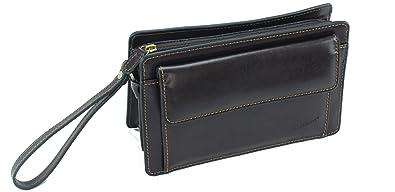 f7de0c2e15 Frédéric Johns® - Sacoche homme porté main - vide poches - sacoche cuir  homme - sac porté main cuir - pochette cuir - poche à pression à l'avant -  poignée ...