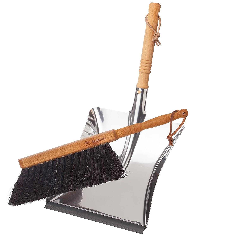 amazon com bürstenhaus redecker dust pan and brush set horse