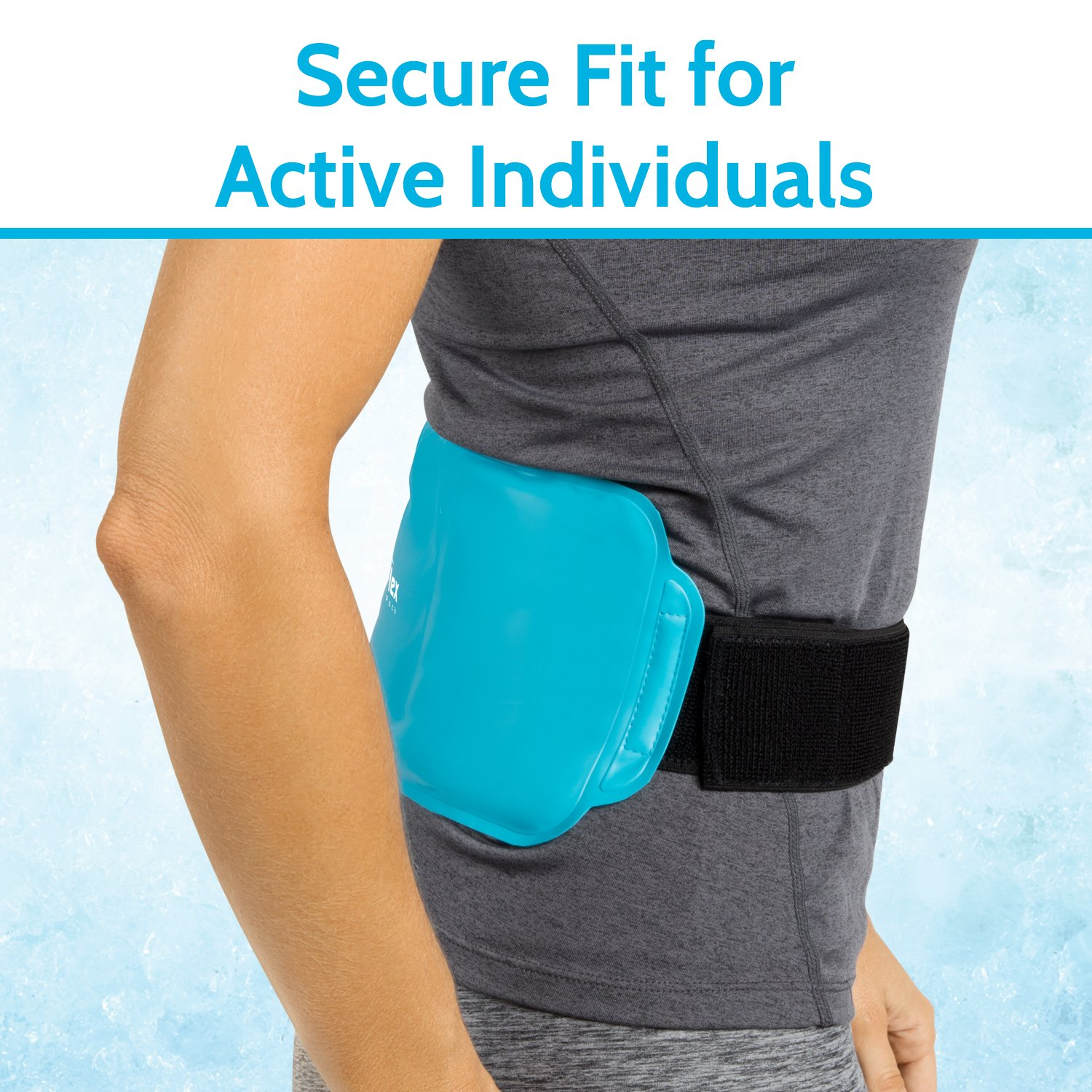 Arctic Flex Hot Cold Therapy Wrap - Reusable Gel Ice and Heat Compress Pack with Strap for Muscle, Injuries, Back, Neck Aches, Knee, Ankle, Calves, Elbow Pain Relief - Microwaveable Blue Pad, Flexible by Arctic Flex (Image #6)