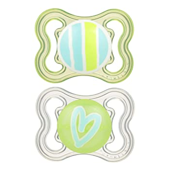 MAM Sensitive Skin Pacifiers, Baby Pacifier 0-6 Months, Best Pacifier for Breastfed Babies, Mini Air Design...