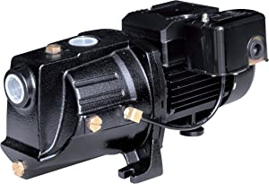 Acquaer SJC075 3/4 HP Dual-Voltage Cast Iron Shallow Well Jet Pump, Black