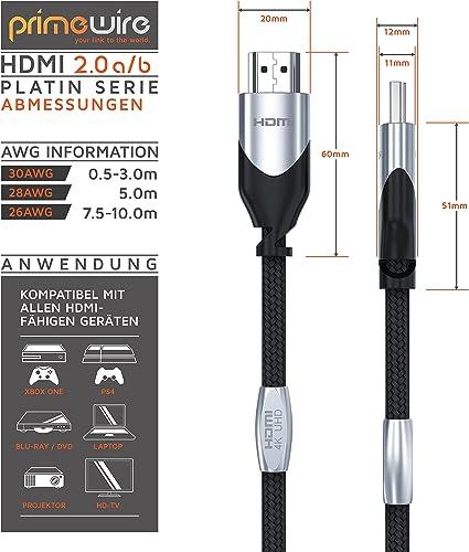 Csl 7 5m Hdmi Kabel 2 0b Ultra Hd 4k 60hz Gbit S Elektronik