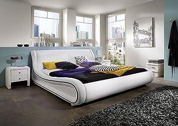 Sam Polster Design Bett Clip Weiss Schwarz 200 X 220 Cm Moderner