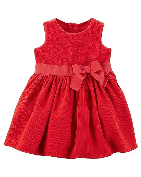 Amazon Com Carter S Baby Girls Bow Dress Clothing