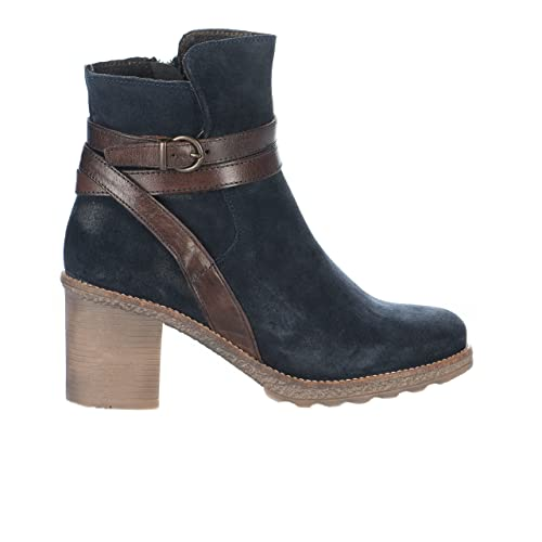Y azul Zapatos Complementos Cypres 40 Piel De Eu Vuelta Azul Mujer es Amazon Botas FBYFw