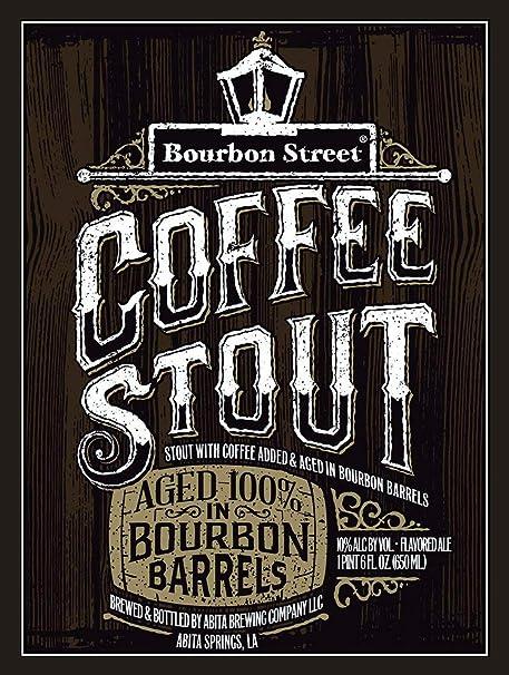 Bourbon Street Placa Cartel Vintage Estaño Signo Metal De ...