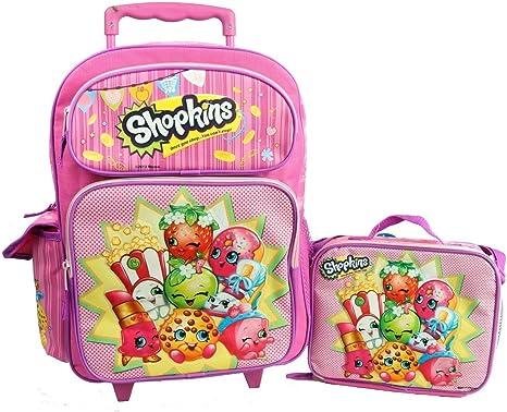 """Shopkins 16/"""" Large School Backpack Lunch Bag 2 pc Set"""