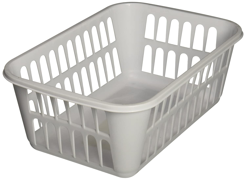 STERILITE Medium Plastic Basket, White, Pack of 12