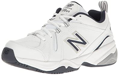 New Balance Men\u0027s MX608v4 Training Shoe, White/Navy, ...