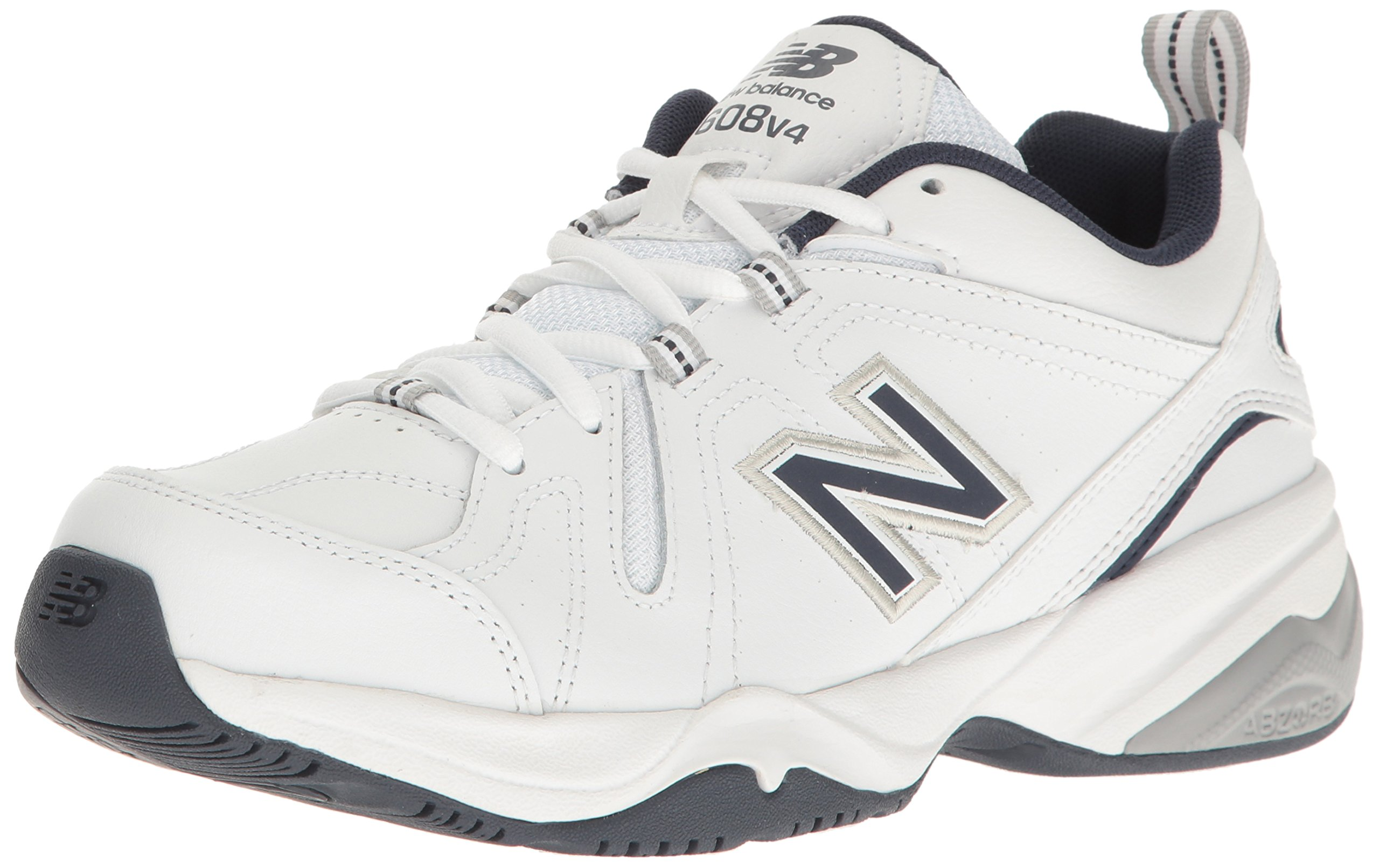 New Balance Men's MX608v4 Training Shoe, White/Navy, 10.5 4E US by New Balance