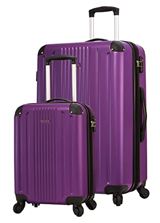 f88e53646f557 TravelCross Milano Luggage Expandable Lightweight Spinner Set - Purple, 2  piece (20''/ 28'')