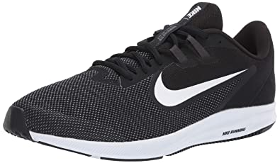 Nike Downshifter 9 Men's Running Shoes, Lightweight Mesh Men's Sneakers, BlackWhite Anthracite Cool Grey, 6