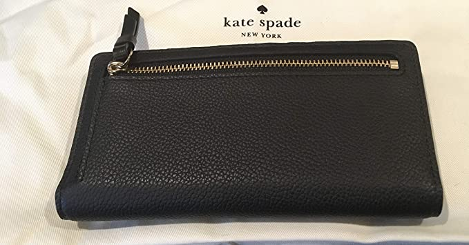 0a9dc9601d78 Kate Spade Pearl Stacy Serrano Place Black Leather Wallet