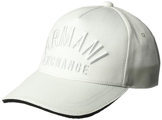 aace0e42b18 Amazon.com  Armani Exchange Men s Tonal Logo Cap