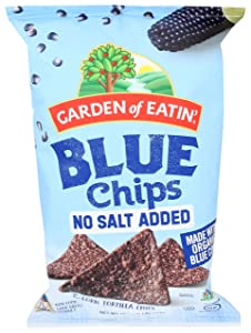 Garden of Eatin' No Salt Added Blue Corn Tortilla Chips, 16 oz. (Packaging May Vary)