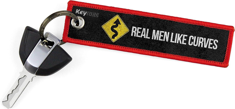 Auto KeyTails Premium-Qualit/ät Motorrad Schl/üsselanh/änger Schl/üsselring Kratzfest Ideal f/ür Ihr Motorrad Real Men Like Curves