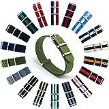 CIVO Armbanduhr BANDS NATO Premium Ballistic Nylon Uhrenarmband Edelstahl Schnalle 18 mm 20 mm 22 mm mit Top SPRING BAR Werkzeug und 4 Spring Bars Bonus