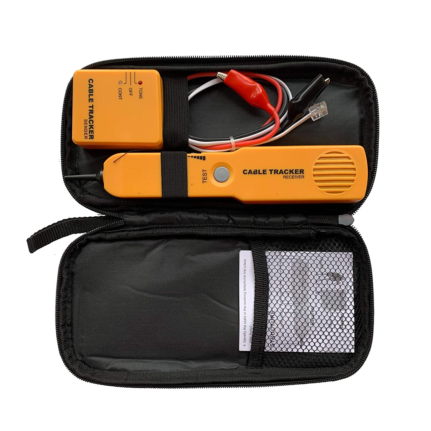 Electrical Wire Circuit Tester with Tone Generator and Probe Kit Cable Signal Locator Tester Test Circuit Cable Finder Tone Generator Probe Tracer for Ethernet RJ11 Network Toner Cable Collation