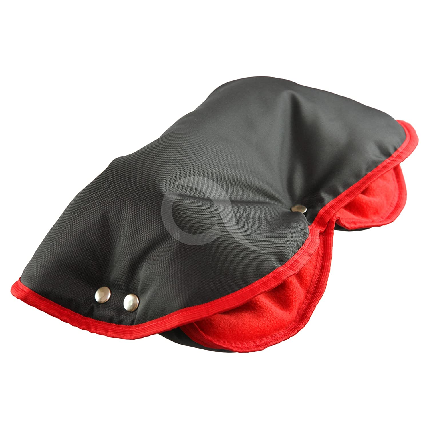 HAND WARMER MUFFS fits PRAM PUSHCHAIR BUGGY NEW WINTER handmuff gift! (black/red) olobaby