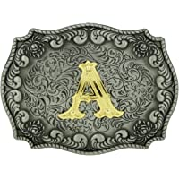 RIDE AWAY Initial Letters Western Style Cowboy Rodeo Gold/Silver Large Belt Buckles