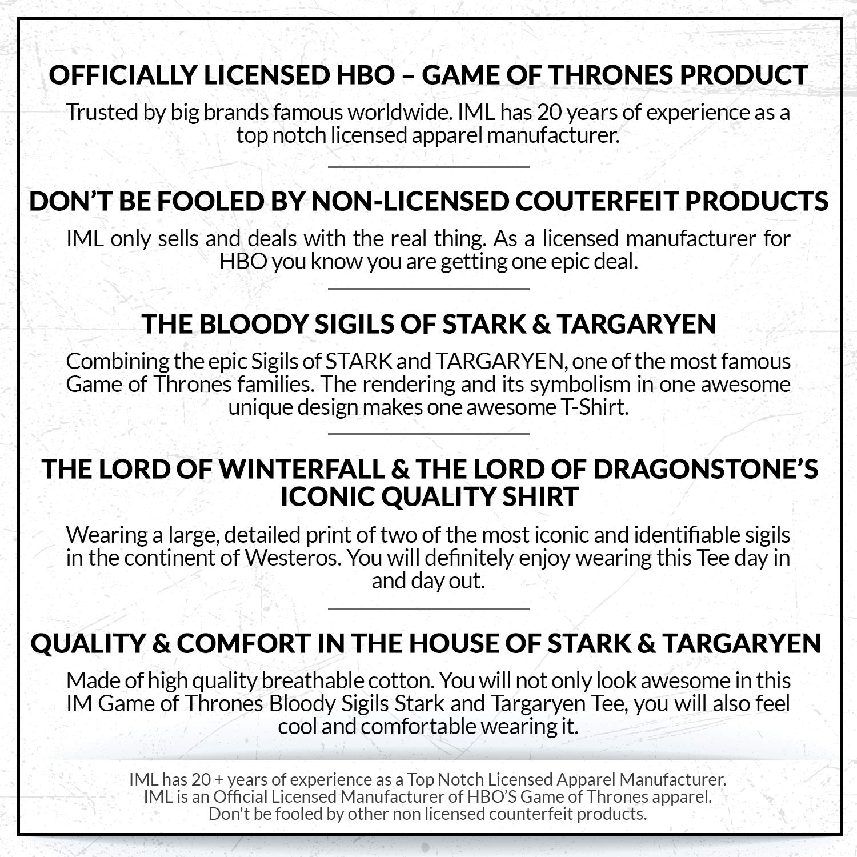 Amazoncom Game Of Thrones Mens Bloody Sigils Stark And Targaryen