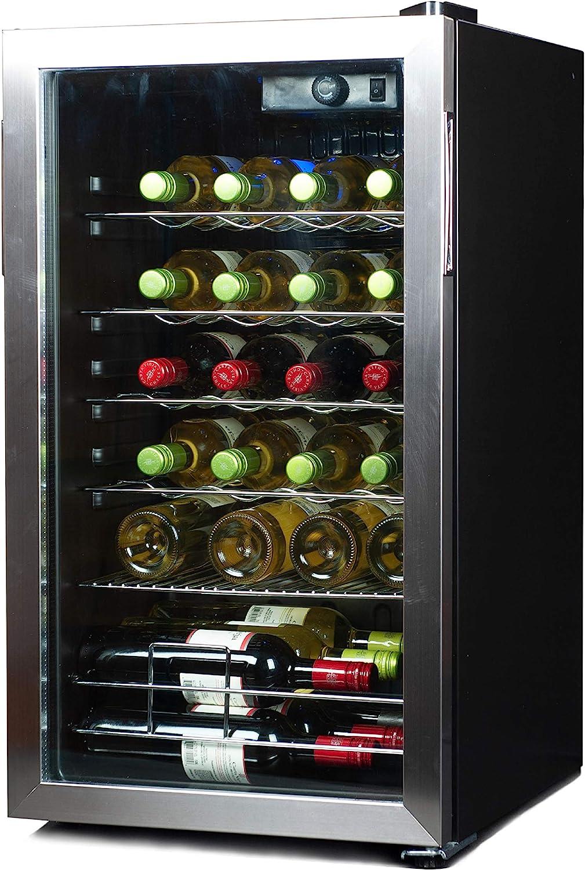 BLACK+DECKER BD61536 Wine Cellar, Black Cabinet and Stainless Steel Trim