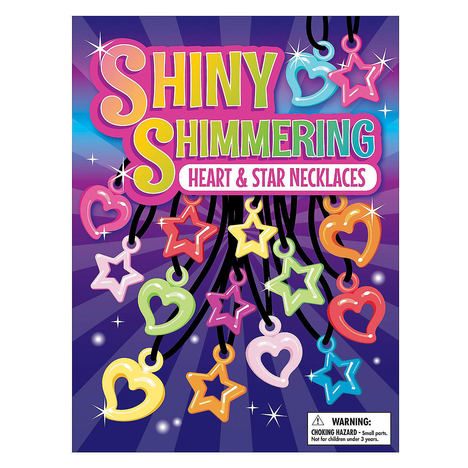 Fun Express - Bulk Vending Shimmering Necklace dc - Toys - Vehicles - Missiles & Launchers - 12 Pieces by Fun Express