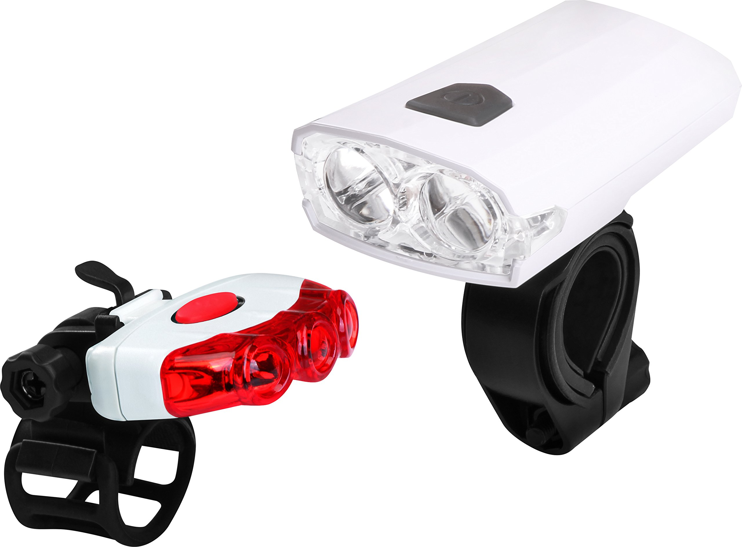 Utopia Home Bicycle Head and Tail Light - USB Rechargeable Bicycle Light Set - IPX4 Water and Impact Resistant - Light Range up to 100 Meters - Perfect for Traveling Experience - Easy Installation