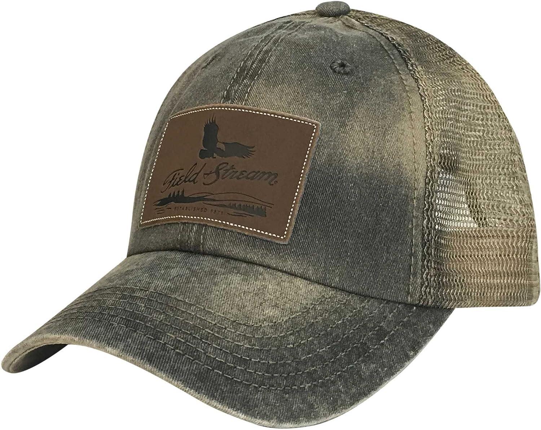 Amazon.com  Field   Stream Men s SPC Patch Dirty Wash Trucker Hat (Khaki b87a4488ced2