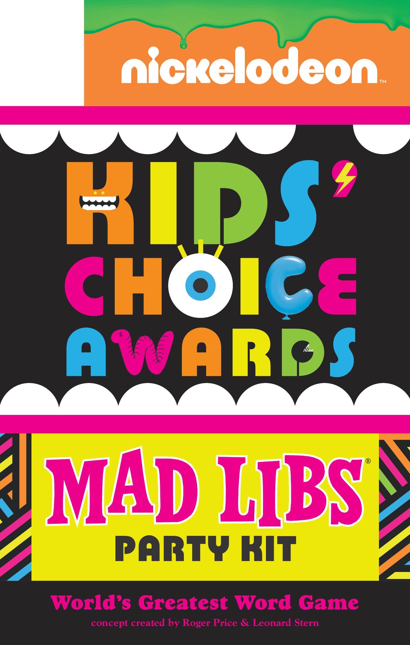 Nickelodeon Kids' Choice Awards Mad Libs Party Kit